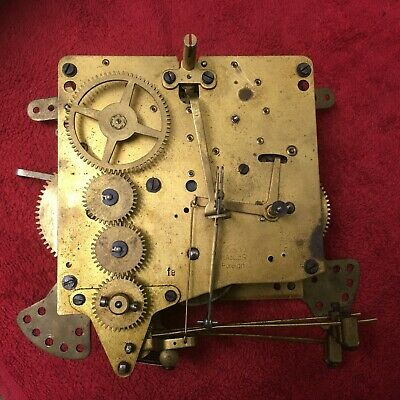Vintage Haller 5 bar chiming mantle clock movement for repair or spares