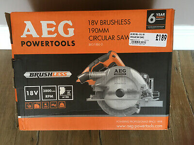 NEW AEG 18V battery 190MM Cordless Brushless Circular Saw BKS 18BL-0 Boxed