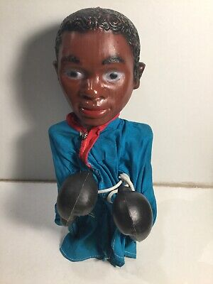 Vintage Puppet Of Muhammad Ali Boxing In Working Order