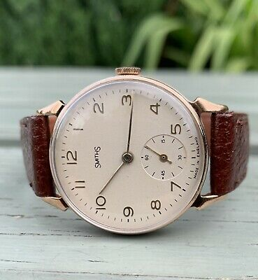 Smiths Classic Men's Watch.Art Deco Horned Lugs. Great Working Order! C6847