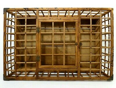Early 20Th C Antique Primitive Farmhouse Baby Chick Wood Breeding Cage, W/Door