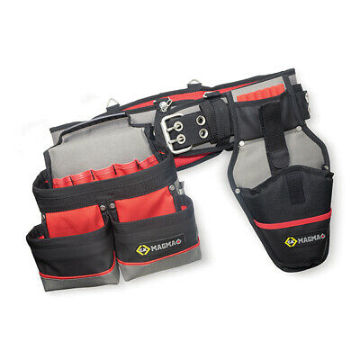 CK Magma MA2738 Electrician Padded Tool Belt Set - Belt, Pouch, Drill Holster