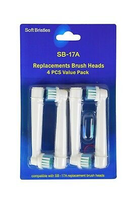 4 Pack Electric Toothbrush Heads 100% Compatible Replacement for Oral B models