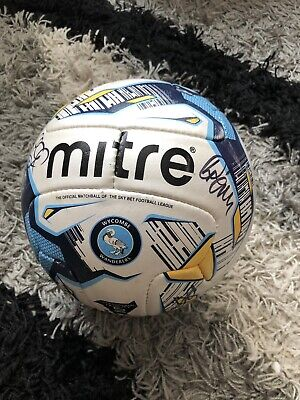 wycombe wanderers fc Official Mitre Match Ball - SIGNED ball