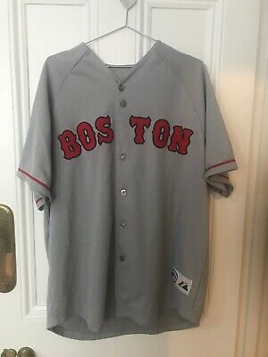 Retro Official Grey Boston Red Sox Jersey (L)