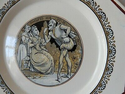 1874 Minton plate Shakespear design by John Moyr Smith