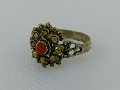 Rare Extremely Ancient Roman Ring Metal Color Silver Artifact Amazing