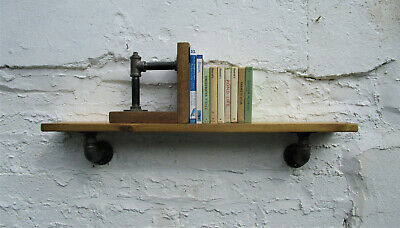 Industrial Style Steampunk Shelf With Cast Iron Brackets Urban Living FREE P&P