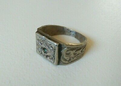 rare ancient roman ring metal color silver artifact amazing