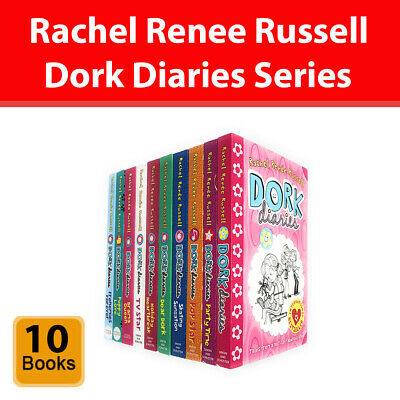 Dork Diaries Series 10 Books Collection Set by Rachel Renee Russell Paperback