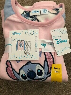Primark Girls Stitch Fleece/ Cosy Pyjamas Age 5-6years BNWT