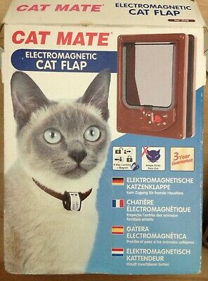 Cat Mate Electromagnetic White Cat Flap - 4-way inc Magnet - New