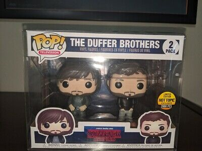 Funko Pop Duffer Brothers Stranger Things Hot Topic Exclusive LE2000 w/ Protect