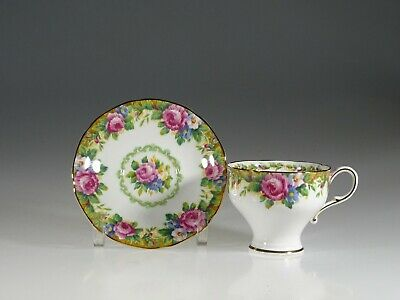 Paragon Tapestry Rose Corset Demitasse Cup and Saucer, England c.1939