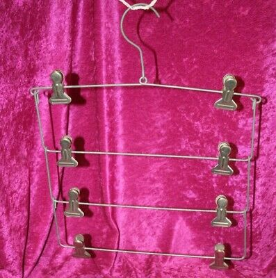 Vintage 1940's Wire 4 Tier Space Saving Trouser Hanger.