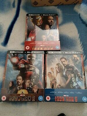 Iron Man 4K Trilogy Steel book Collection