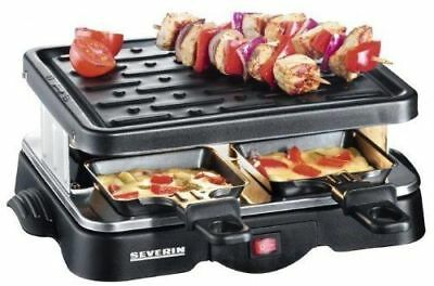 Severin RG 2682 Party Raclette Cooking Grill +4 Mini Non-Stick Pans
