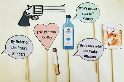 PEAKY BLINDERS TV Show Quotes Photo Booth Selfie Props x8 ...
