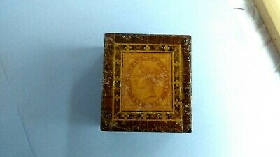 Rare Antique Victorian Tunbridge Ware Stamp Box .