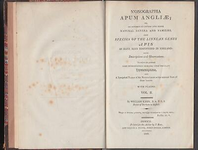 1802 Bees Monographia Apum Angliae Kirby Vol 2 only 4 hand colour plates Scarce