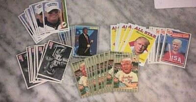 (60) Donald Trump Baseball Card Lot Make America Great Again USA President MAGA