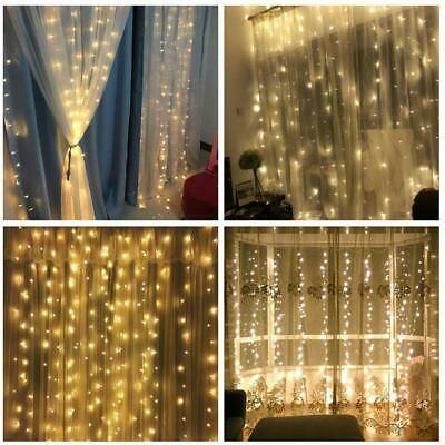 3M/6M Led Fairy Curtain String Lights Wedding Party Room Decor Perfect Holiday