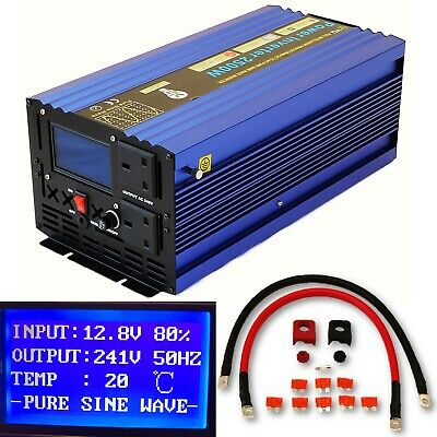 2500W/5000W(Surge) DC12V INTELLIGENT PURE SINE WAVE POWER INVERTER LCD DISPLAY