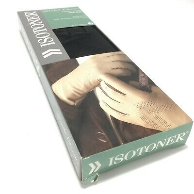 Isotoner Gloves Ladies Stretch Classics Fleece Lined One Size Black New