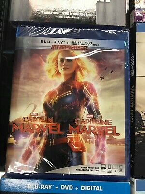 Captain Marvel BLU RAY + DIGITAL- BRAND NEW & SEALED- FAST SHIPPING!