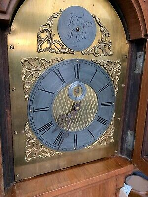 Grandmother Clock - Early Tempus Fugit - Junghans Movement. Twin Weight.