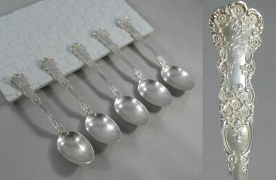 Antique Gorham Sterling Silver 1899 Buttercup Pattern Teaspoon 5 Spoon Lot SF189