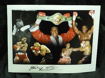 Frank Bruno Signed 12x16 Boxing Montage :2