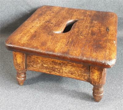 Lovely antique Victorian Foot Stool / Step Stool. 16cm high. Mahogany & Oak?