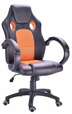 High Back Racing Sport Swivel Office Gaming Adjustable Computer Chair PU Leather