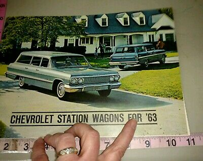 Vintage Auto salesman's pamphlet, Chevrolet station wagons for 1963