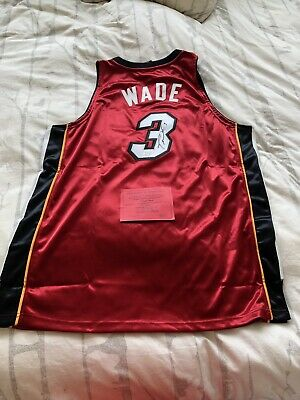separation shoes fda46 15aaf DWYANE WADE SIGNED Custom Miami Heat Jersey NBA STAR Miami ...