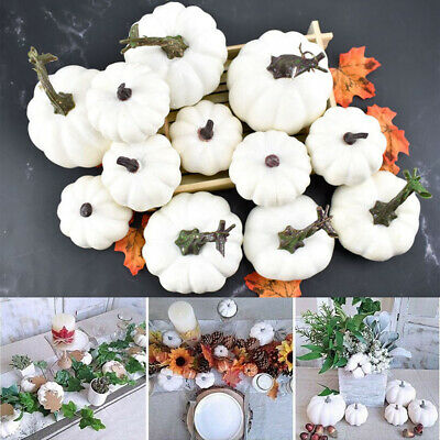 6/12 DIY Artificial White Pumpkin Foam Harvest Pumpkins Halloween Party Decor