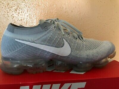 Nike Air Vapormax Flyknit Pure Platinum Grey White  Mens Size 9.5