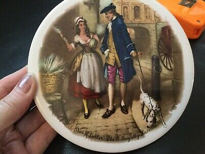 Vintage H&R Johnson Cries Of London Wall Tile Round Plaque
