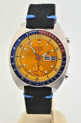 Vintage Men's Seiko Pogue Stainless Steel Automatic Chronograph 6139-6002 Watch