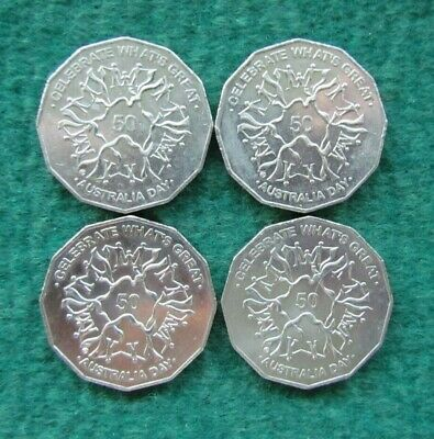 Australian 2010 50 Cent Coin Australia Day Celebrating What's Great - Lot of 4