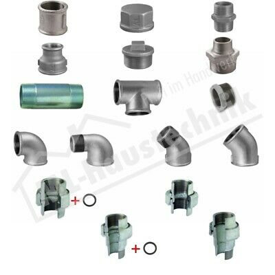 Thread Fitting Galvanized Assortment Malleable Iron Od. Various Sizes & Shapes