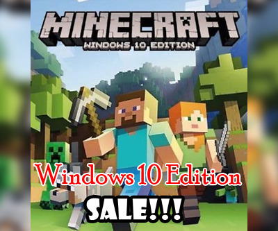 Minecraft Windows 10 Edition Microsoft Key [GLOBAL] FAST DELIVERY!!! [NO/CD DVD]