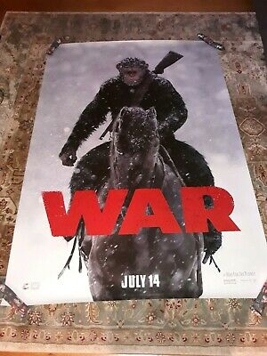 War for the Planet of the Apes Original 4 ft x 6 ft Double Sided Bus Shelter