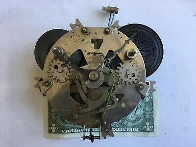 Vintage 31 Day Clock Movement Strike Made in Japan for Montgomery Ward untested