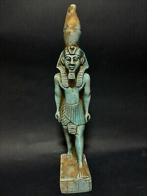 Rare Antiques Ancient Egyptian Blue Glazed Statue Pharaoh King Ramses ii 1279 BC
