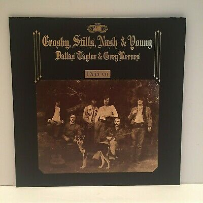 Crosby Stills Nash & Young Deja Vu LP Album Gatefold 1970 Atlantic SD 7200 VG+