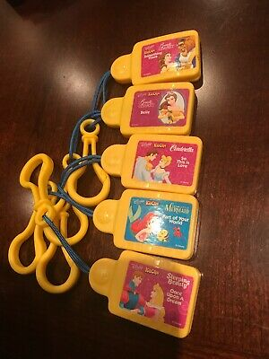 DISNEY Tunes Kid Clips Music Cartridges Set of 5 Cinderella Beauty Beast Mermaid