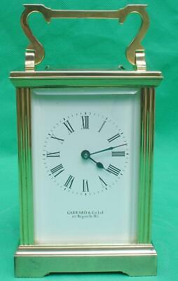 Garrard & Co Vintage English 8 Day Classic Corniche Carriage Clock