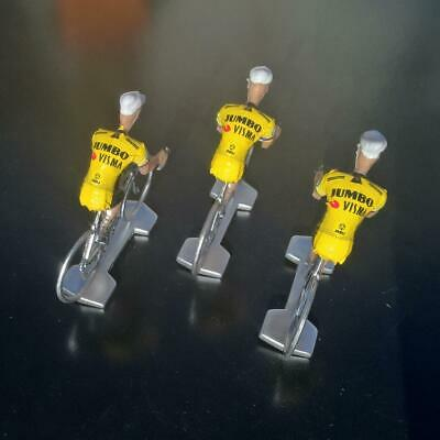 3 cyclistes miniatures Tour de france - Cycling figure - Jumbo Visma 2019